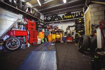 Interior view of a workshop
