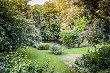 Jardin Royal garden a public park in Toulouse in autumn France
