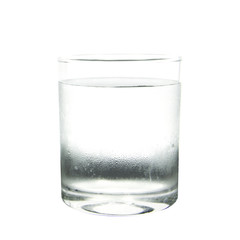 Cool water with drop in glass