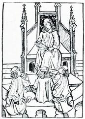 Medieval school (woodcut, 1516)