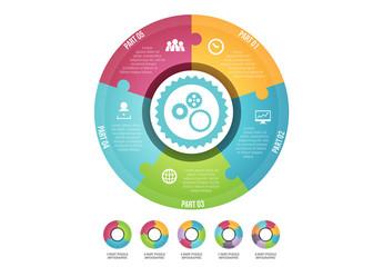 Circle Puzzle Element Infographic