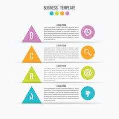 Arrow infographic banner