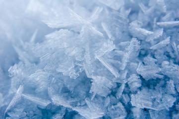 Cristalli di ghiaccio / macro su cristalli di ghiaccio