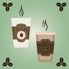 Vector illustration of logo for coffee