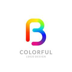"Colorful logo design. Preview on a smartphone. Letter ""B"". Eps10 vector illustration."