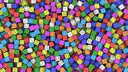 Random color dice