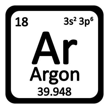 Periodic table element neon icon.