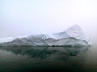 big glaciers are on the arctic ocean at Greenland