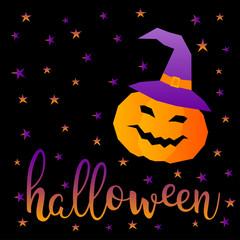 Halloween pumpkin card.