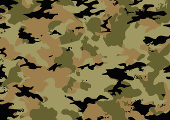 Camouflage pattern in brown tones