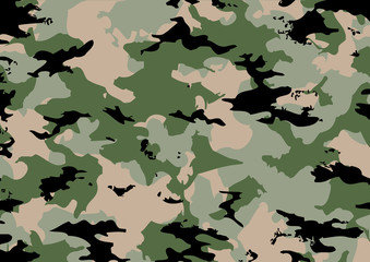 Camouflage pattern in green tones