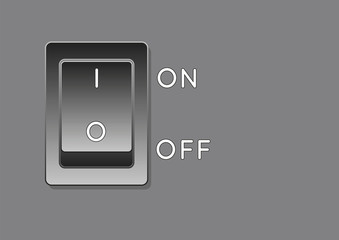 black electrical switch vector