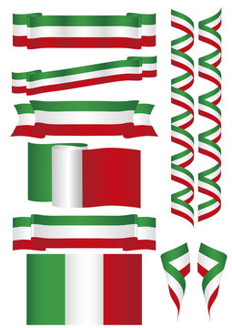 mexico flag and banners
