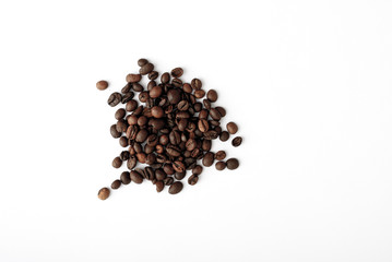 coffee grains,abstract, dark