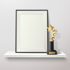 Trophy And Frame Illustration