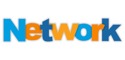 NETWORK Vector Letters Icon