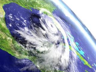 Hurricane Matthew from orbit