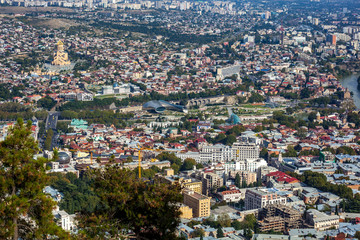Panoramic view of Tbilisi, The Republic of Georgia