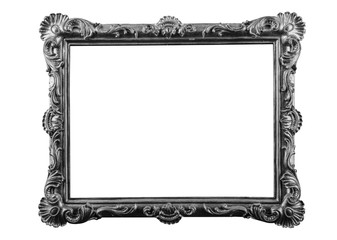 bronze, plaster frames isolated on white background