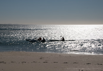 Kayakers in Silhouette