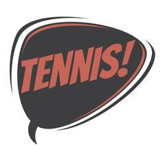 tennis retro speech balloon