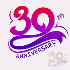 Anniversary Design, Template celebration sign