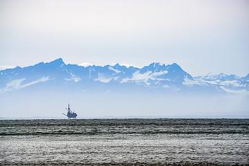 Oli rigs in Alaska