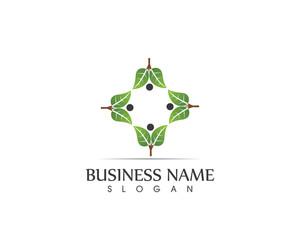 Agriculture Leaf community Logo