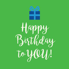 Green Happy Birthday greeting card