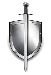 Shield with Sword Protection
