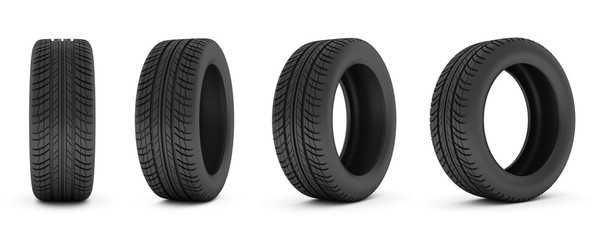 car tire. Car tire isolated on white background.