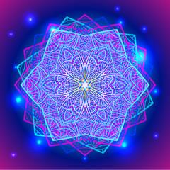 Mandala sacred geometry symbol