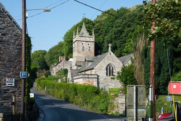 Parish church of Saint Petroc in Little Petherick near Wadebridge in north Cornwall.