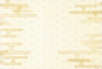 雲 文様 年賀状 背景