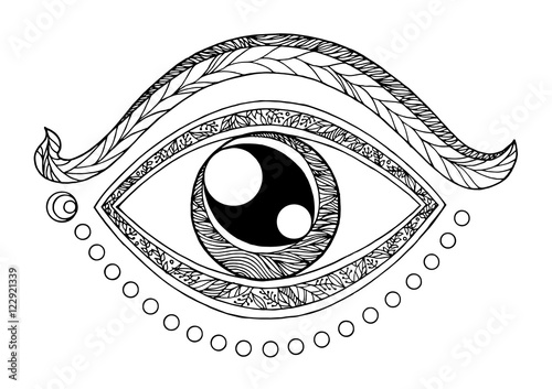 quotthird eye chakra symbol drawing design vector