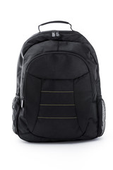 Black Backpack on white background