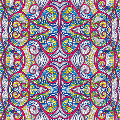 Ornamental Tribal Seamless pattern.