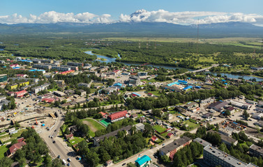 Yelizovo town on Kamchatka Peninsula.
