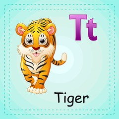 Animals alphabet: T is for Tiger