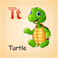 Animals alphabet: T is for Turtle