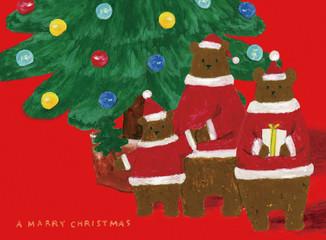 クマ 親子 クリスマス