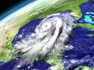 Hurricane Matthew in Caribbean Sea