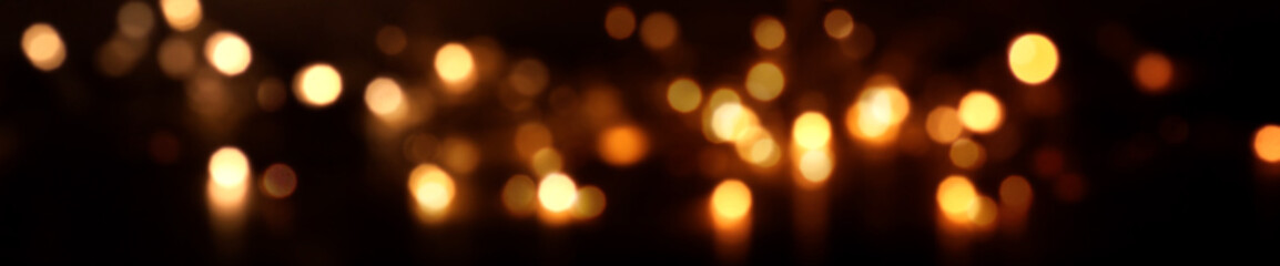 Festive sparkling lights and bokeh by night
