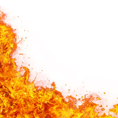 Canvas Prints Fire / Flame Abstract fire flames background