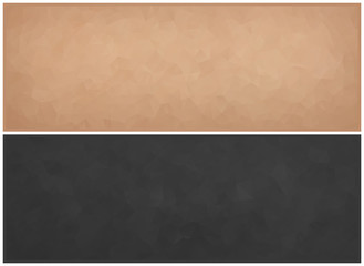 Vector Illustration - Set of 2 abstract mosaic beige and gray triangle banners, backgrounds