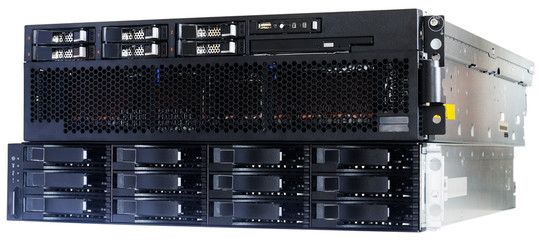 Blade server and disk array storage