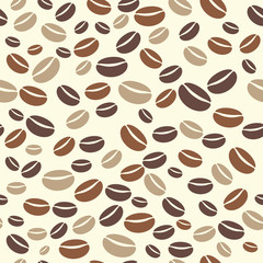 Vector coffee bean seamless pattern