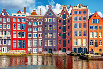 Printed kitchen splashbacks Amsterdam Houses in Amsterdam