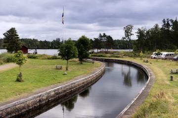 Göta Kanal bei Forsvik in Schweden