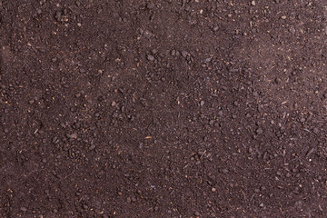 Full frame of bare soil for nature background